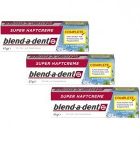 TRÓJPAK BLEND-A-DENT KLEJ DO PROTEZ FRESH 47 G